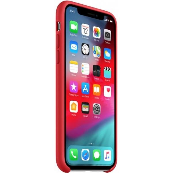 Чехол Silicone Case качество Lux для iPhone XR красный