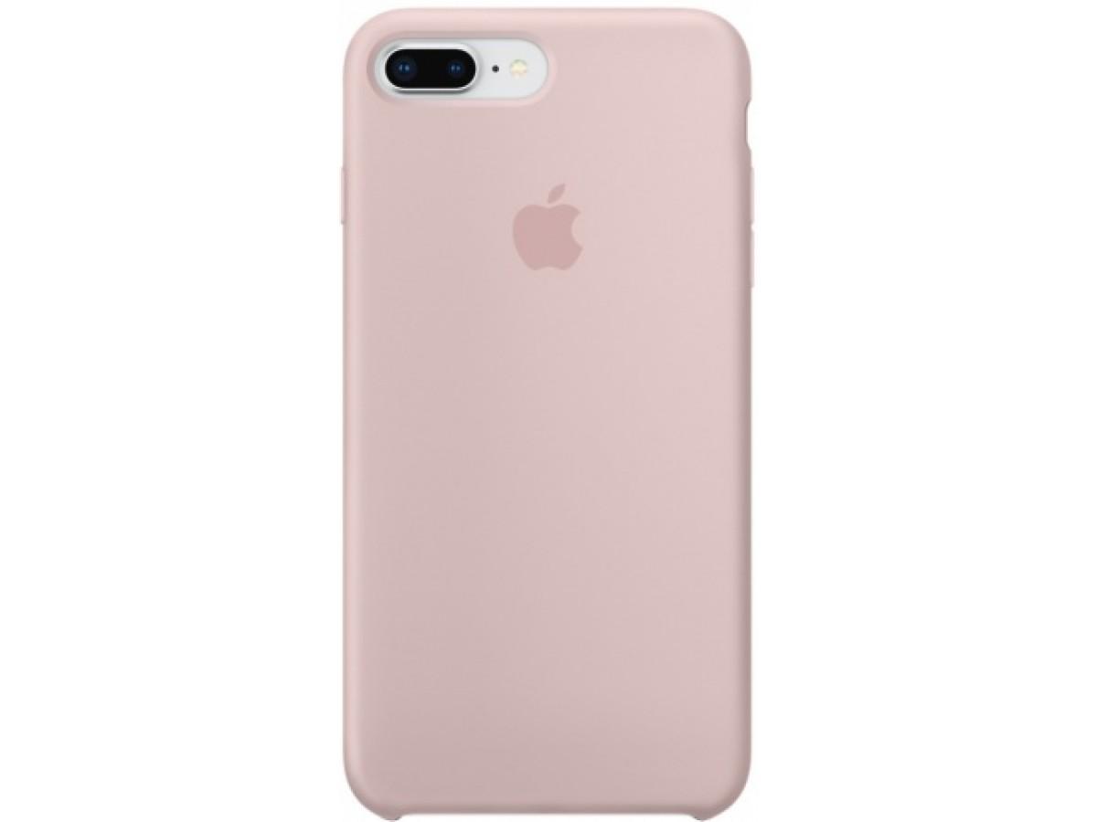 Чехол Silicone Case iPhone 7 Plus/8 Plus светло-розовый в Тюмени