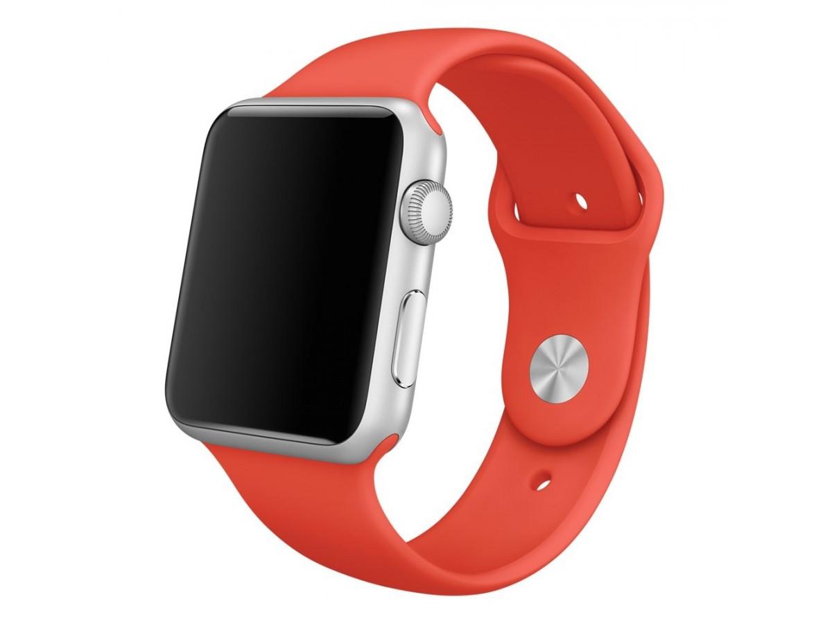 Силиконовый ремешок Apple Watch 42/44мм красный в Тюмени
