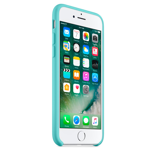 Чехол Silicone Case iPhone 7/8 бирюзовый