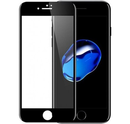 Стекло защитное iPhone 7 Plus/8 Plus (3D) черное/белое