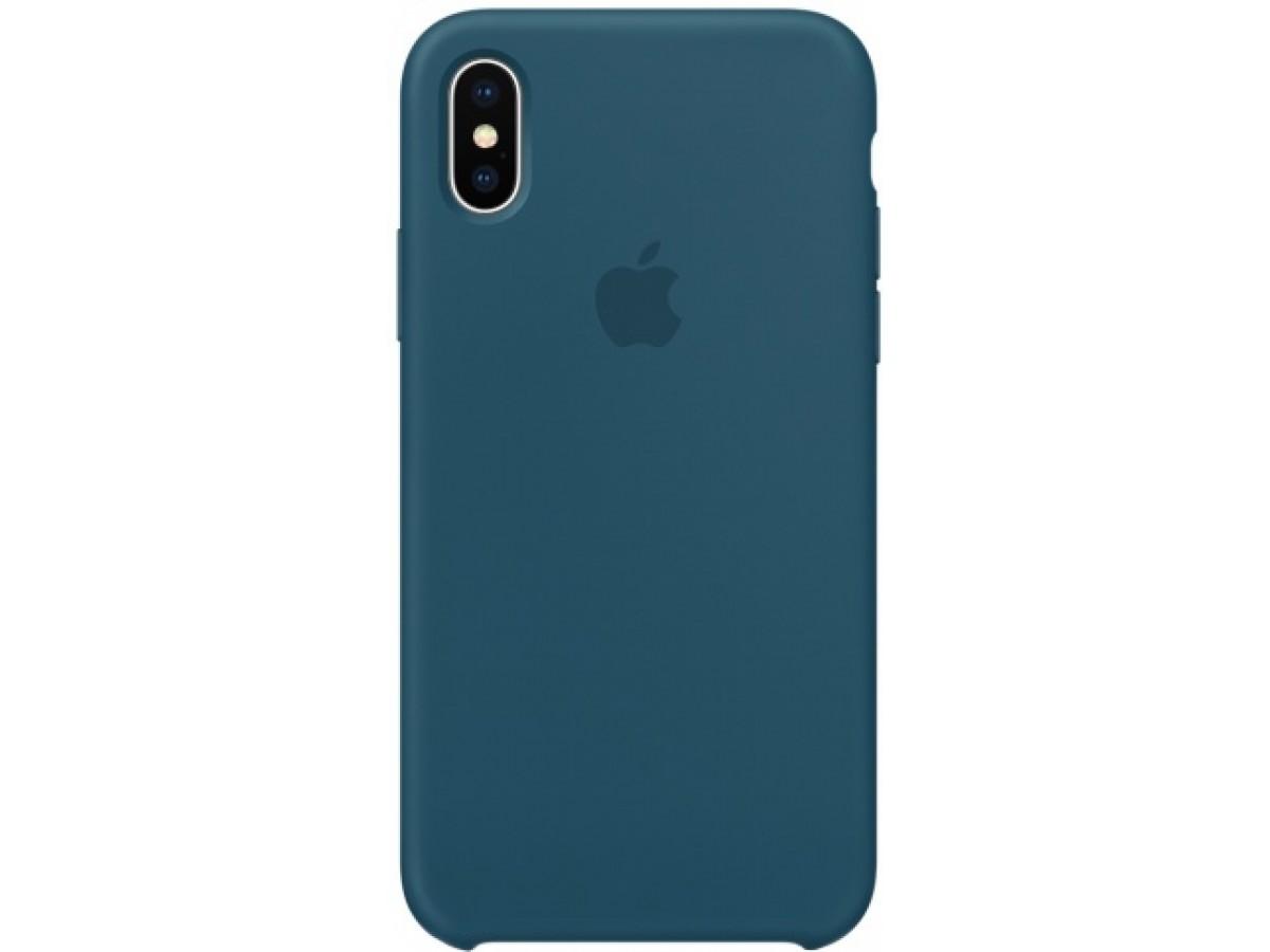 Чехол Silicone Case качество Lux для iPhone X/Xs космический синий в Тюмени