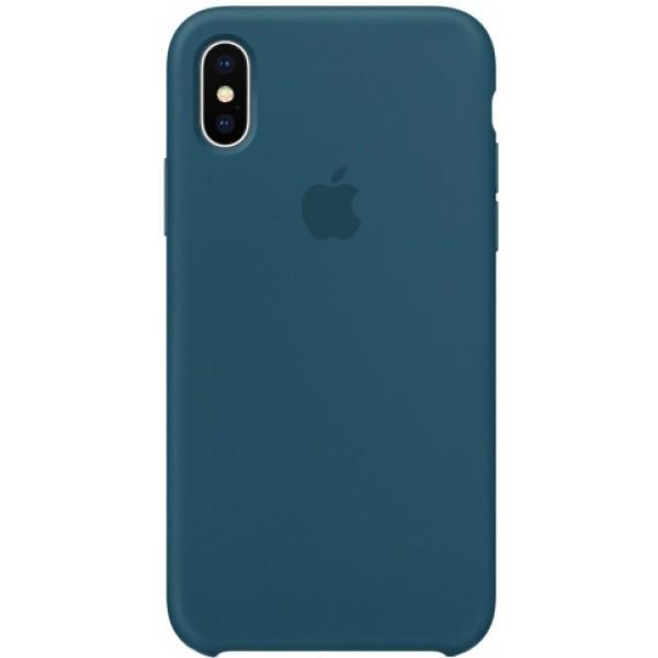 Чехол Silicone Case качество Lux для iPhone X/Xs космический синий