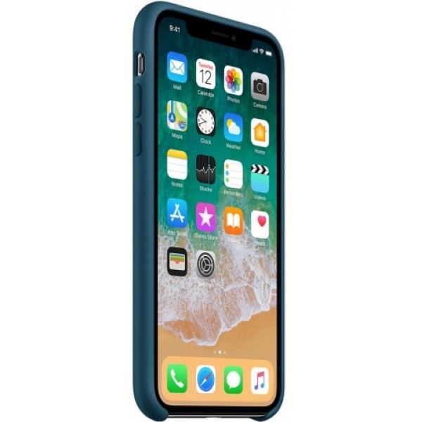 Чехол Silicone Case iPhone X/Xs космический синий