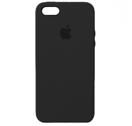 Чехол Silicone Case iPhone 5s/SE черный