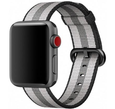 Ремешок Apple Watch 42/44мм из плетеного нейлона серый ...
