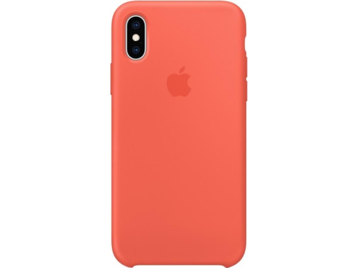 Чехол Silicone Case качество Lux для iPhone Xs Max оранжевый в Тюмени