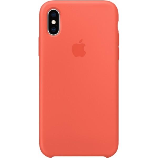 Чехол Silicone Case качество Lux для iPhone Xs Max оранжевый