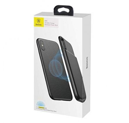 Беспроводной чехол-зарядка Baseus для iPhone X (черный/...