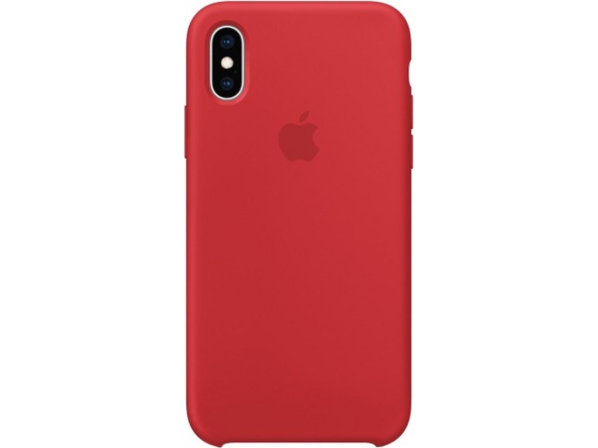 Чехол Silicone Case iPhone Xr красный в Тюмени
