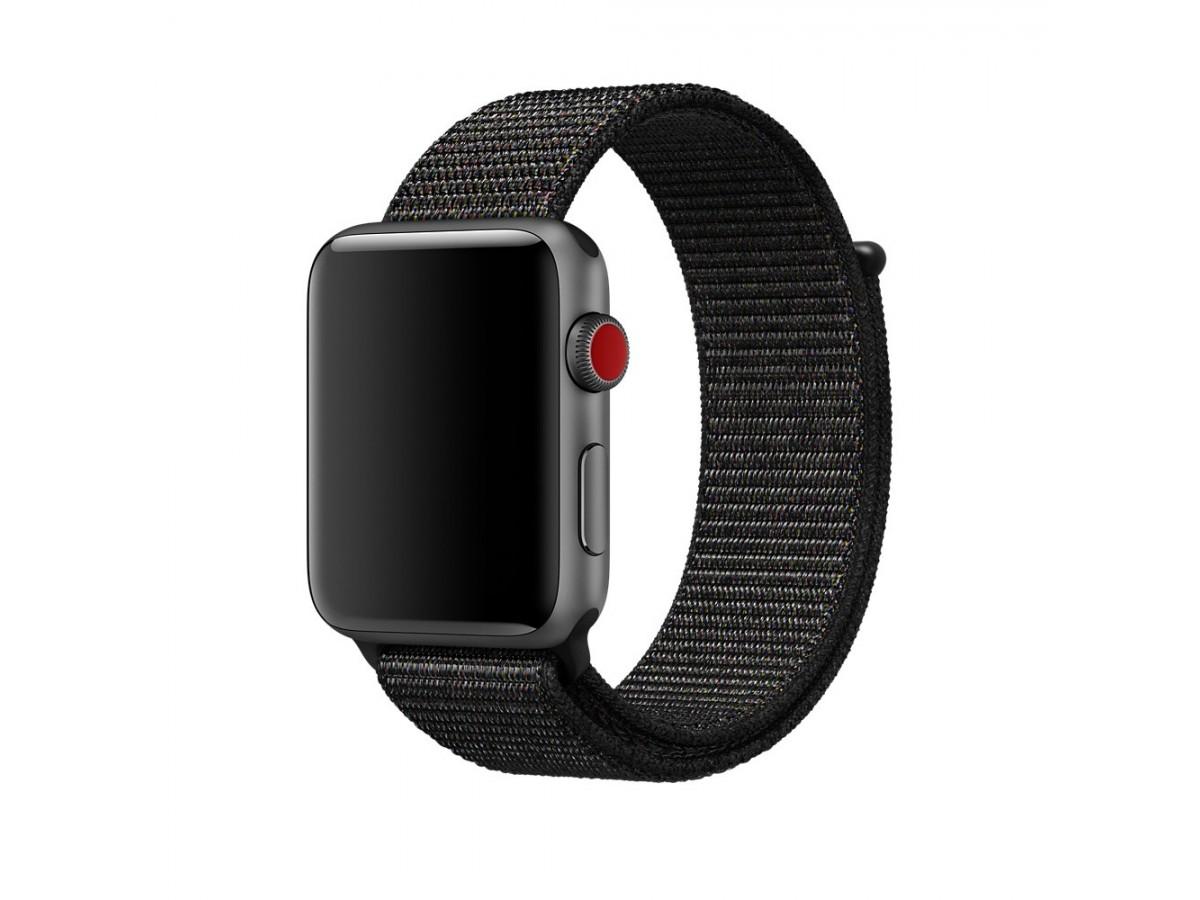 Браслет Apple Watch 42/44мм Спортивная петля (черный) в Тюмени