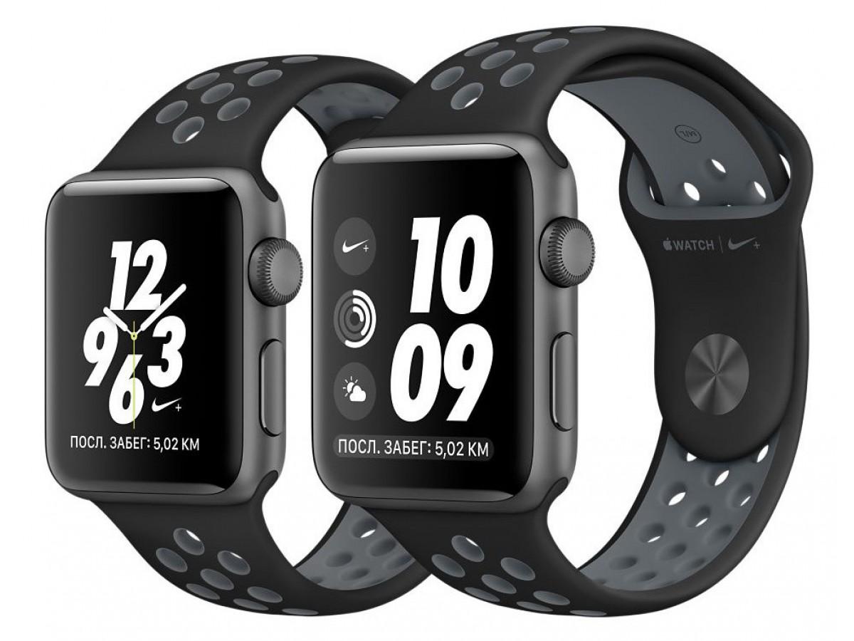 Силиконовый ремешок Apple Watch Nike 38/40мм черный в Тюмени