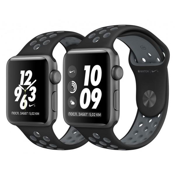 Силиконовый ремешок Apple Watch Nike 38/40мм черный