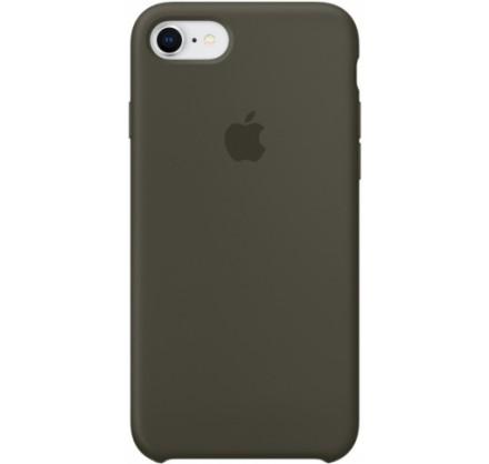 Чехол Silicone Case iPhone 7/8 темно оливковый