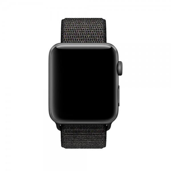 Браслет Apple Watch 42/44мм Спортивная петля (черный)