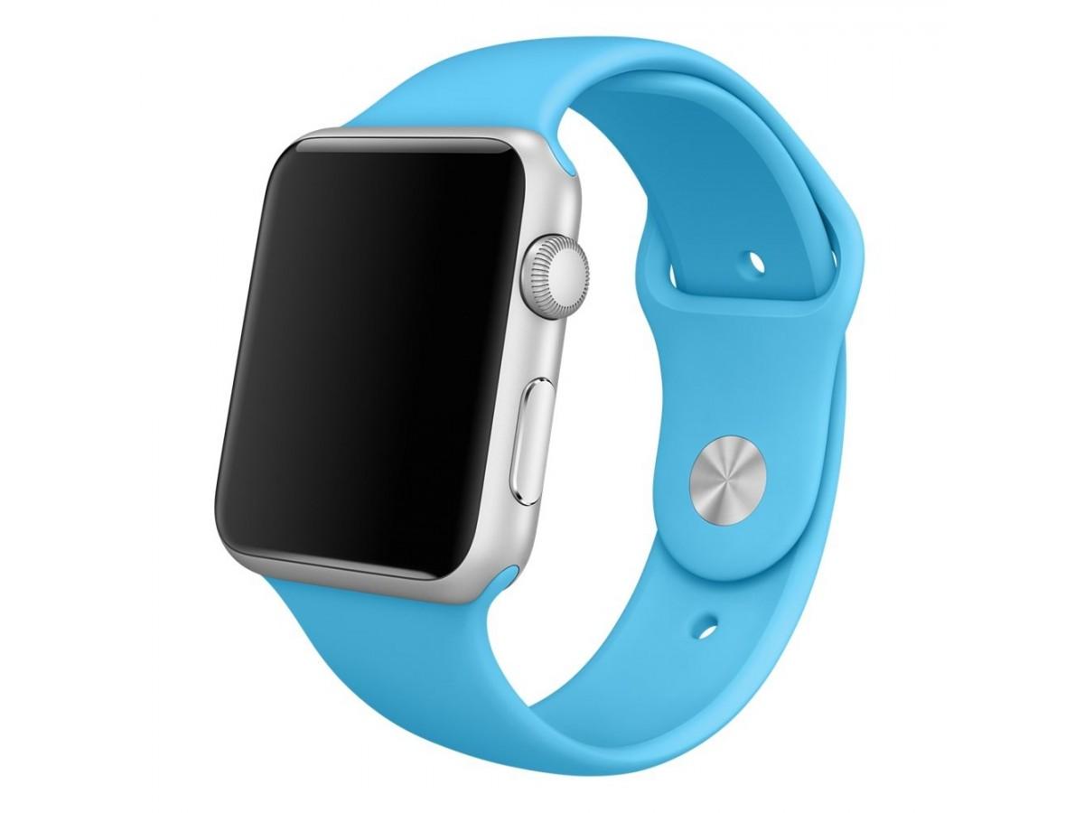 Силиконовый ремешок Apple Watch 38/40мм голубой в Тюмени