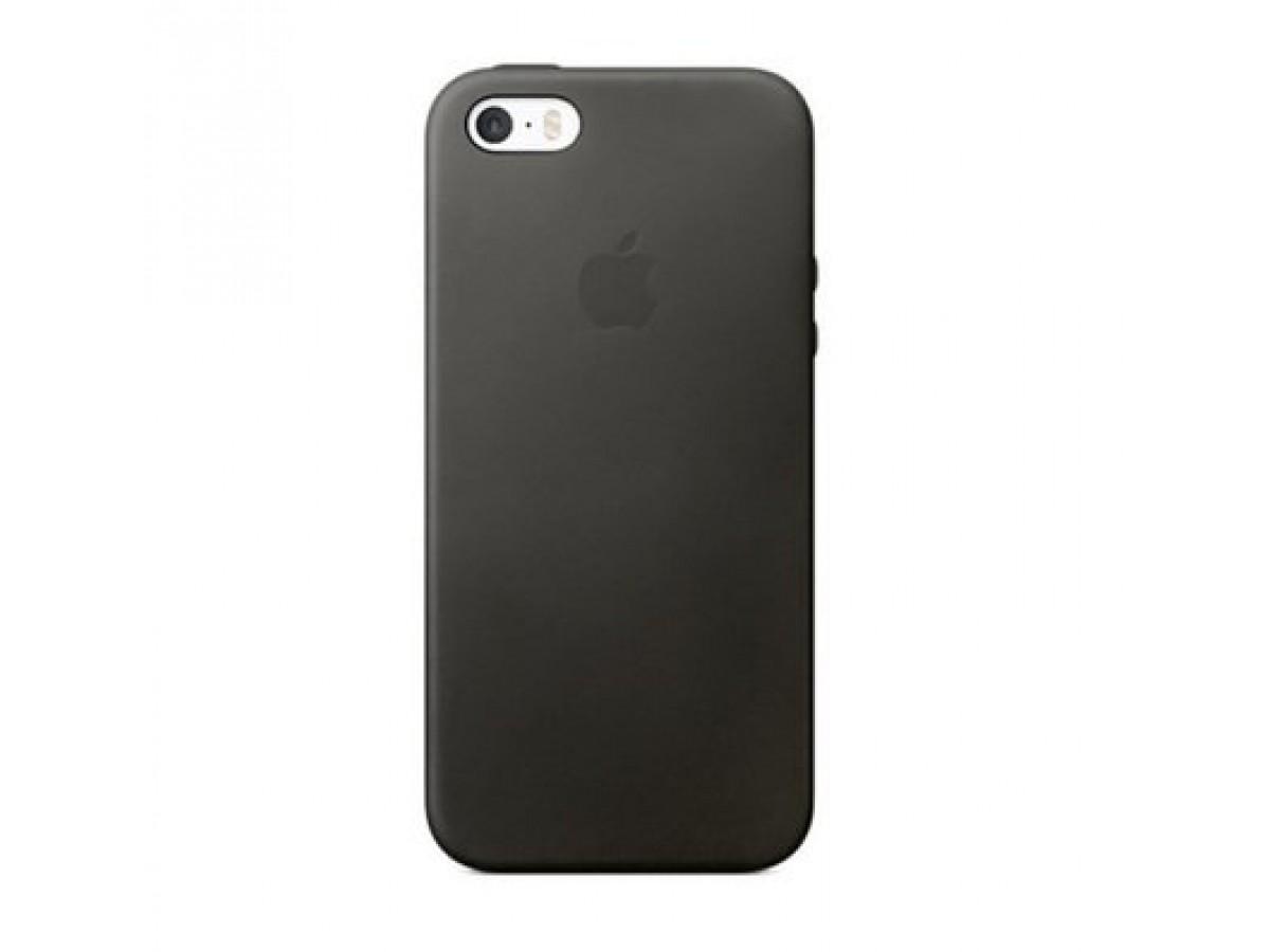 Чехол Silicone Case iPhone 5s/SE темно-серый в Тюмени