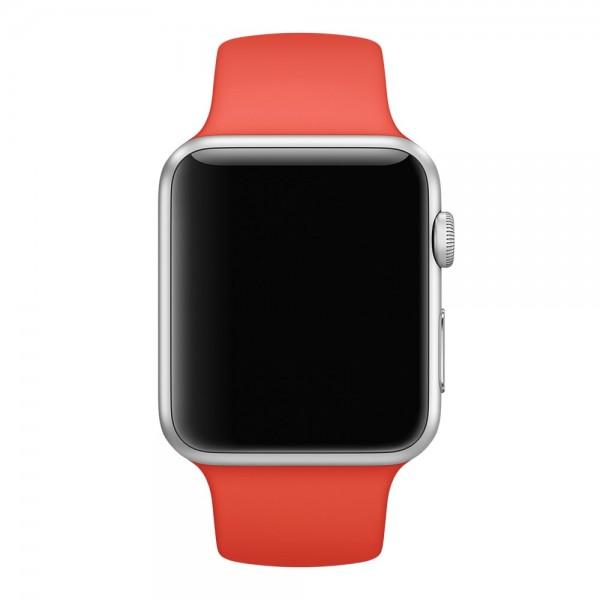Силиконовый ремешок Apple Watch 42/44мм красный