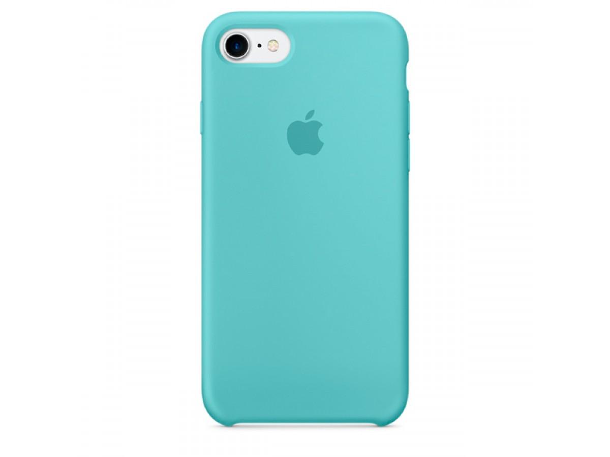 Чехол Silicone Case iPhone 7/8 бирюзовый в Тюмени