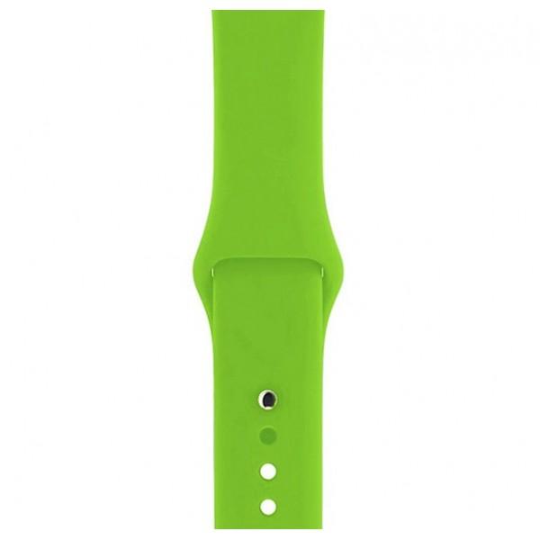 Силиконовый ремешок Apple Watch 42/44мм салатовый