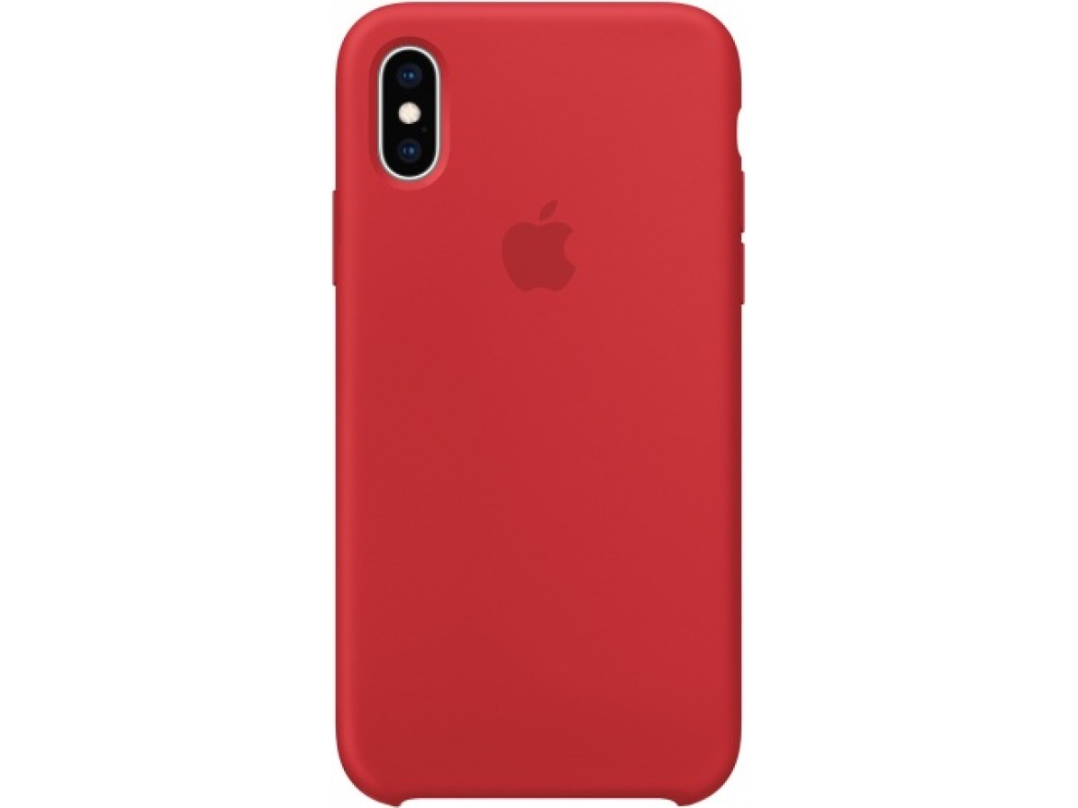 Чехол Silicone Case iPhone X/Xs красный