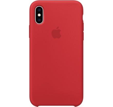 Чехол Silicone Case iPhone X/Xs красный