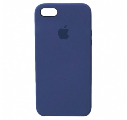 Чехол Silicone Case для iPhone 5/5s/SE темно-синий
