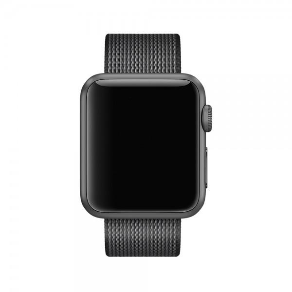 Ремешок Apple Watch 42/44мм из плетеного нейлона (темно-серый)