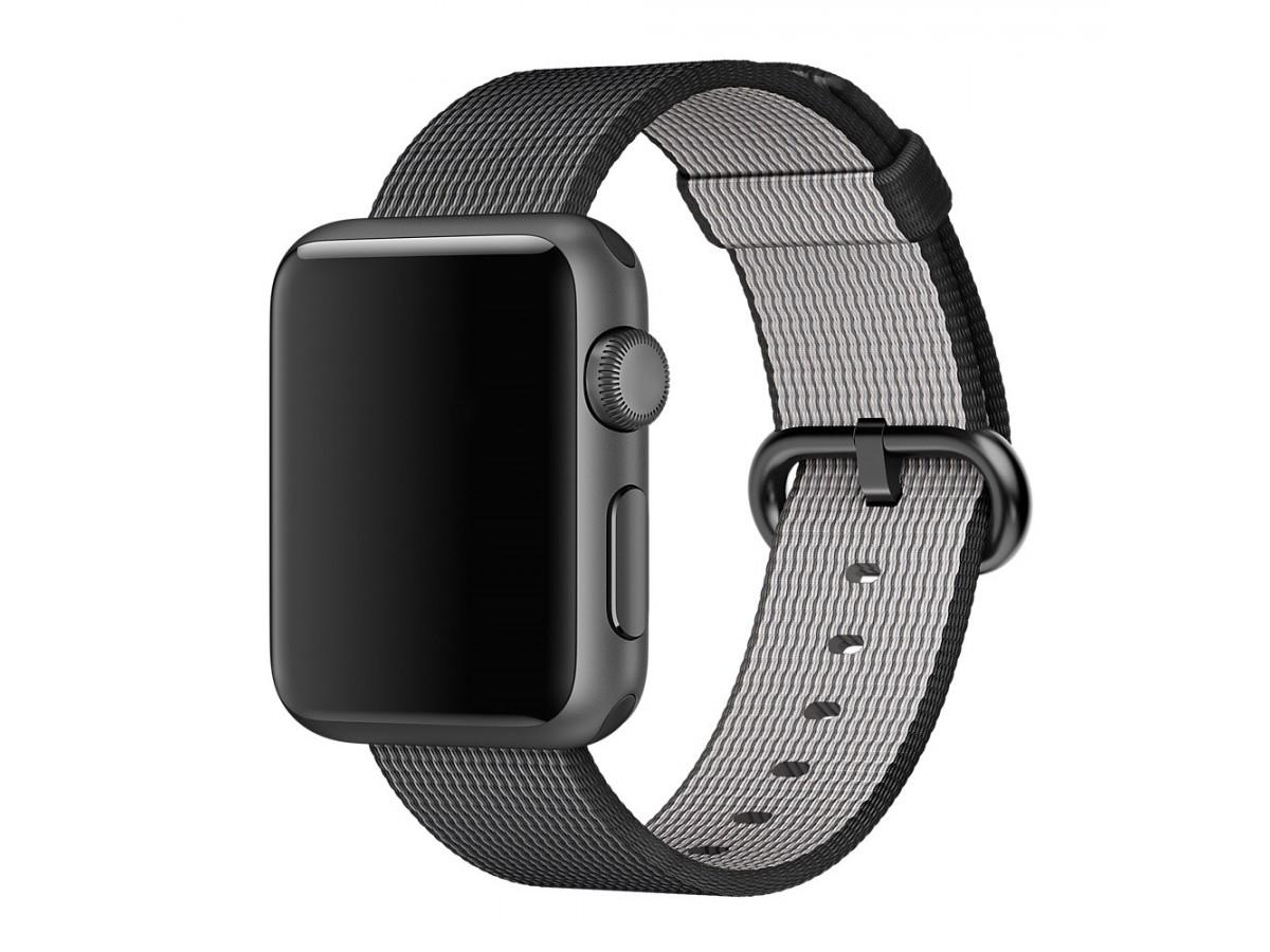 Ремешок Apple Watch 42/44мм из плетеного нейлона (темно-серый) в Тюмени