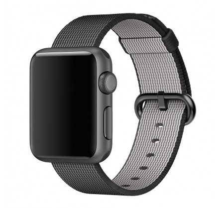 Ремешок Apple Watch 442/44мм из плетеного нейлона (темн...