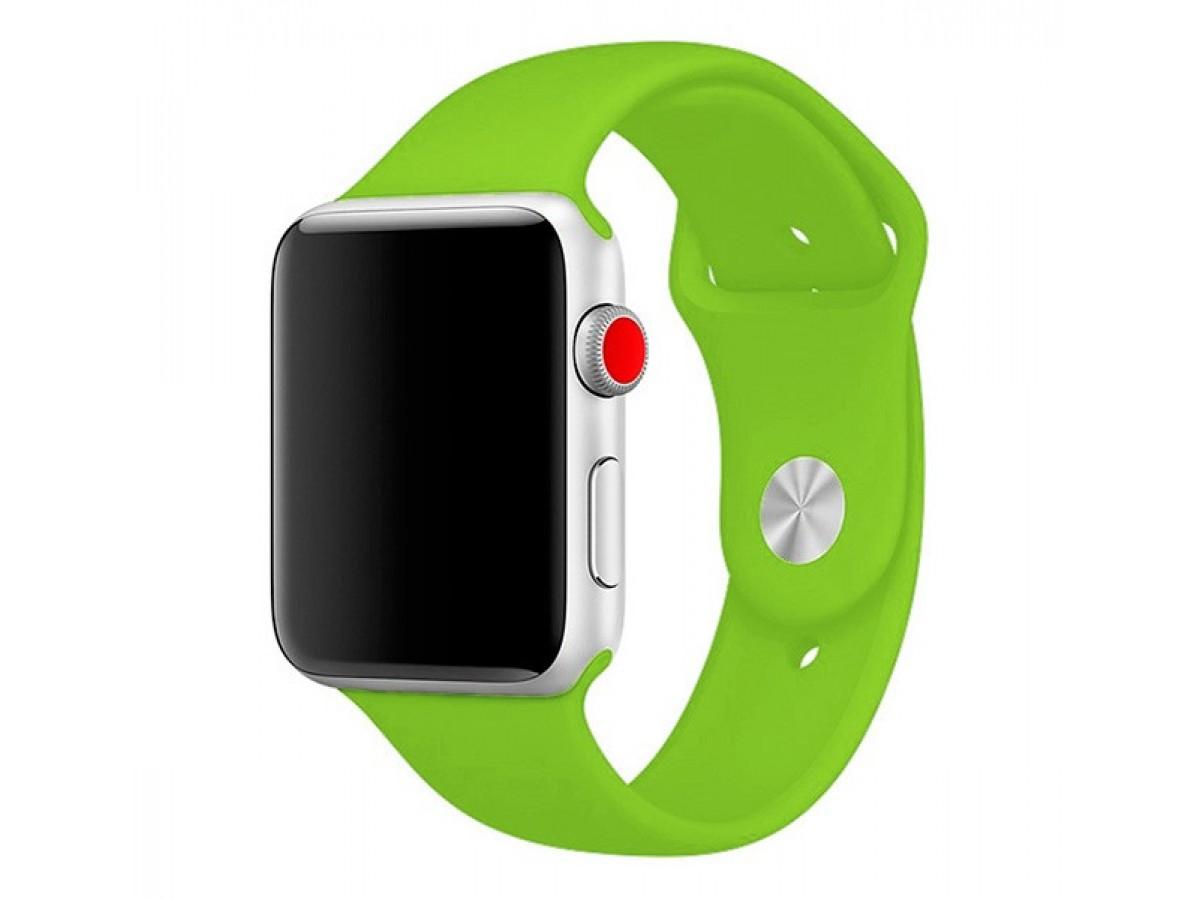 Силиконовый ремешок Apple Watch 42/44мм салатовый в Тюмени