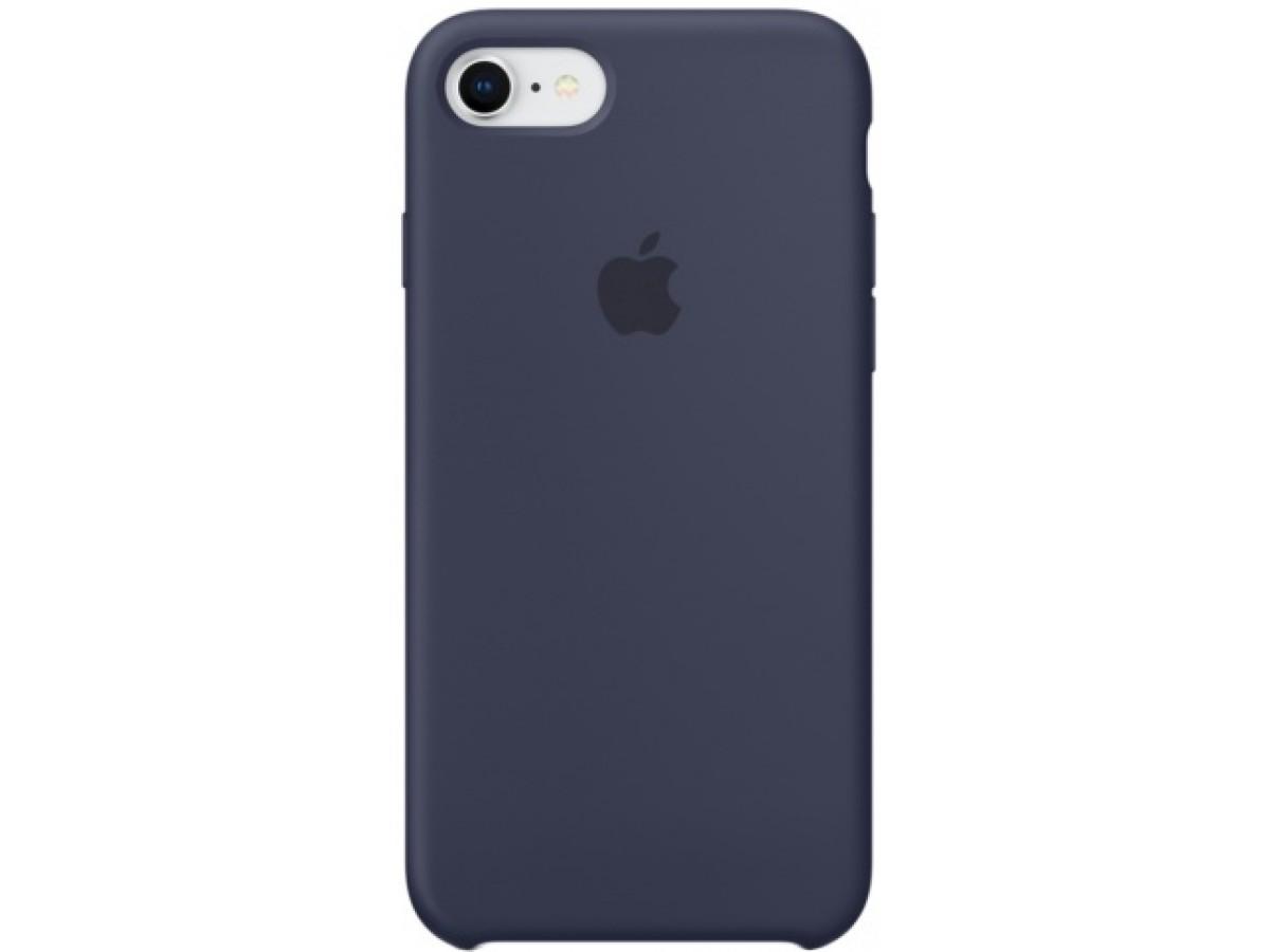 Чехол Silicone Case iPhone 7/8 темно синий в Тюмени