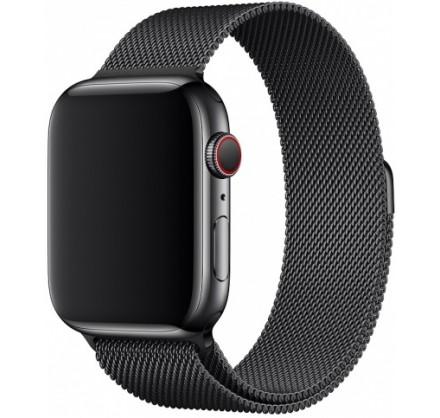 Ремешок миланский браслет Apple Watch 38/40 мм черный