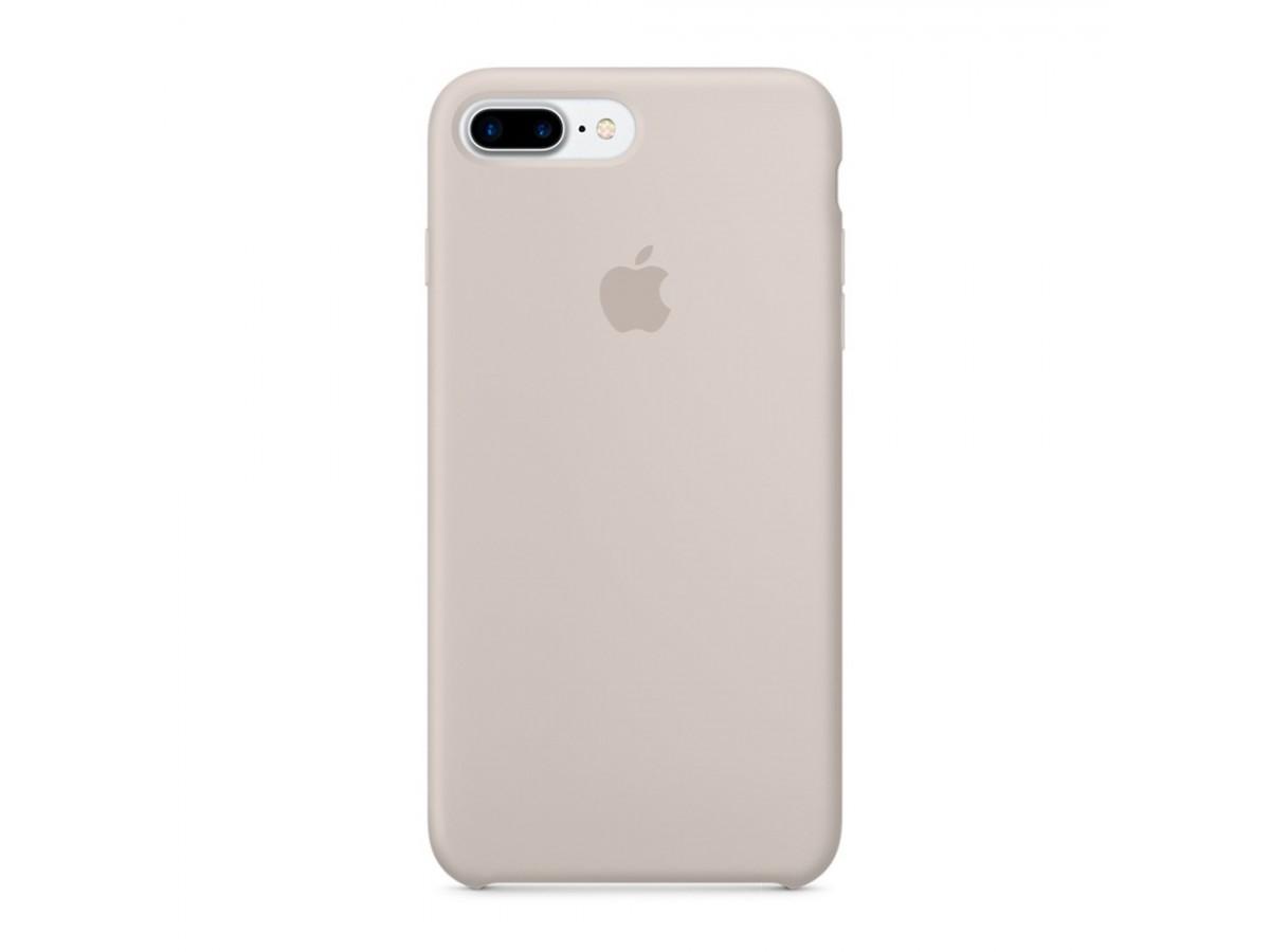 Чехол Silicone Case iPhone 7 Plus/8 Plus светло-серый в Тюмени