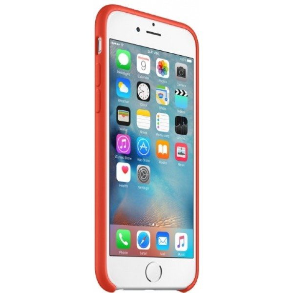 Чехол Silicone Case качество Lux для iPhone 6/6s оранжевый