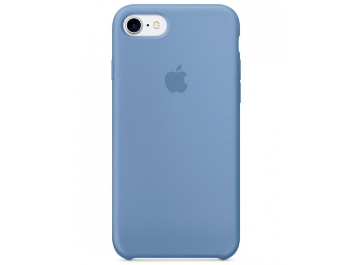 Чехол Silicone Case iPhone 7/8 голубой в Тюмени