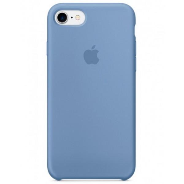 Чехол Silicone Case iPhone 7/8 голубой