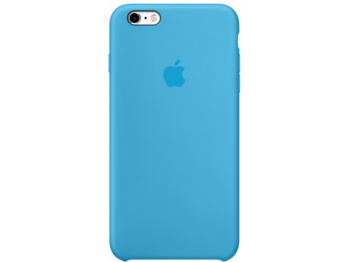 Чехол Silicone Case качество Lux для iPhone 6 Plus/6s Plus голубой в Тюмени