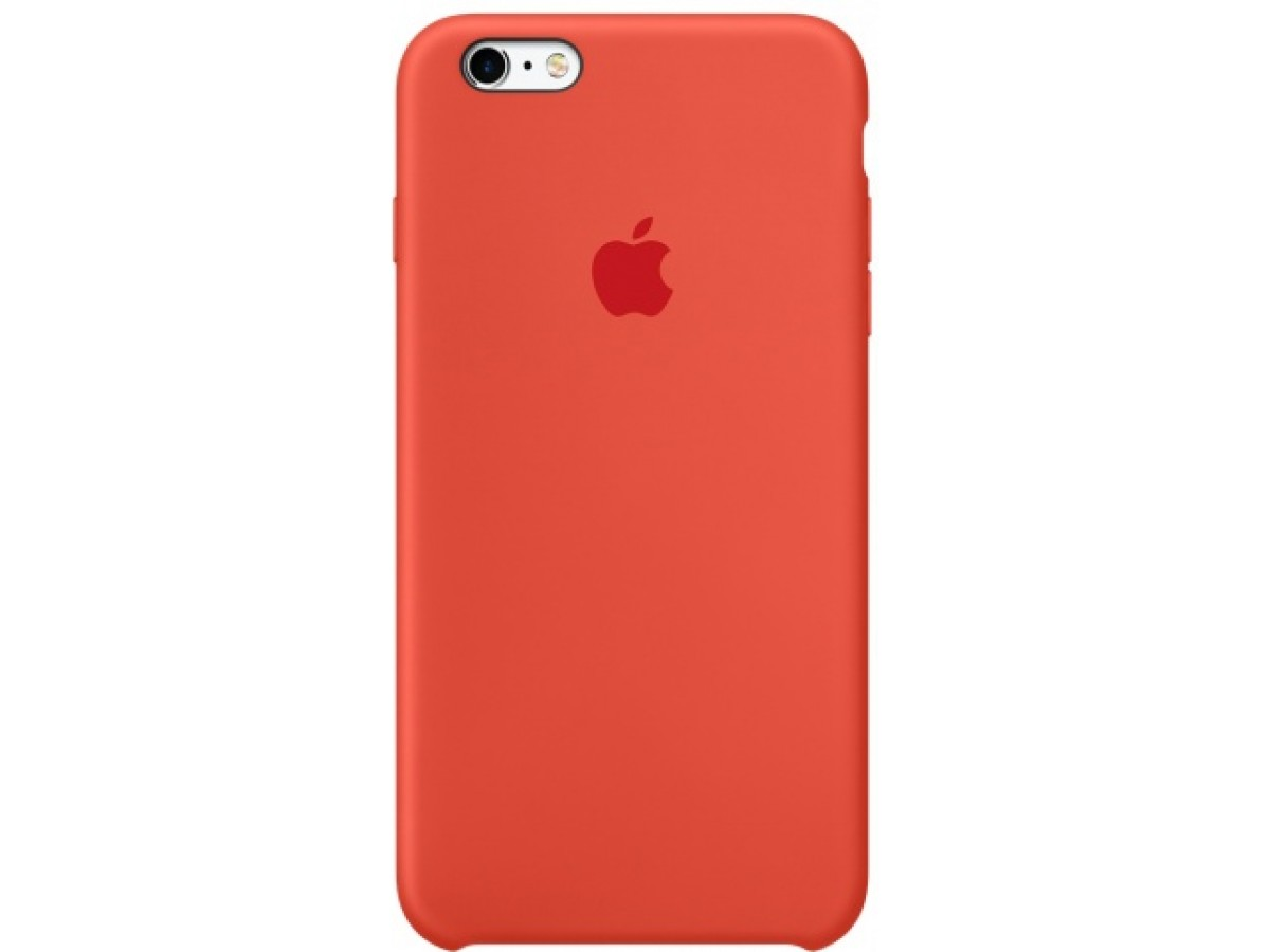 Чехол Silicone Case качество Lux для iPhone 6/6s оранжевый в Тюмени