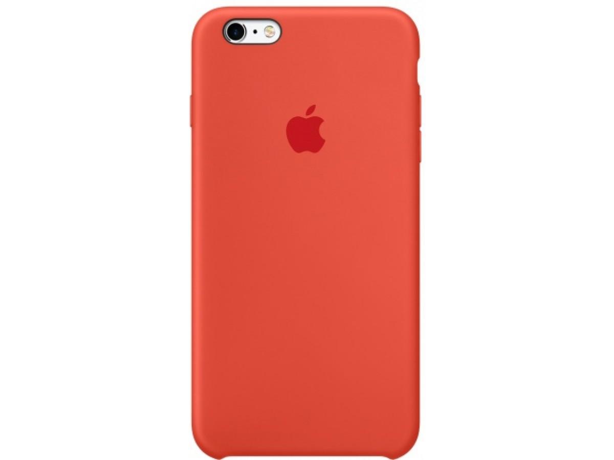 Чехол Silicone Case iPhone 6/6s оранжевый в Тюмени