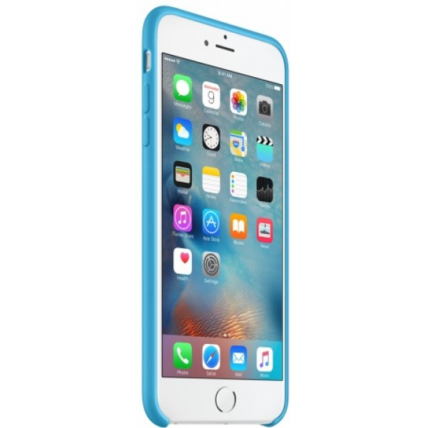 Чехол Silicone Case качество Lux для iPhone 6 Plus/6s Plus голубой