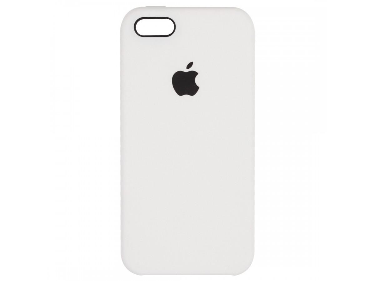 Чехол Silicone Case для iPhone 5/5s/SE белый в Тюмени