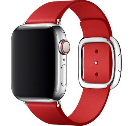 Ремешок кожаный Apple Watch 38/40мм Modern Buckle (крас...