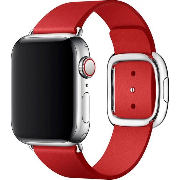 Ремешок кожаный Apple Watch 38/40мм Modern Buckle (красный)