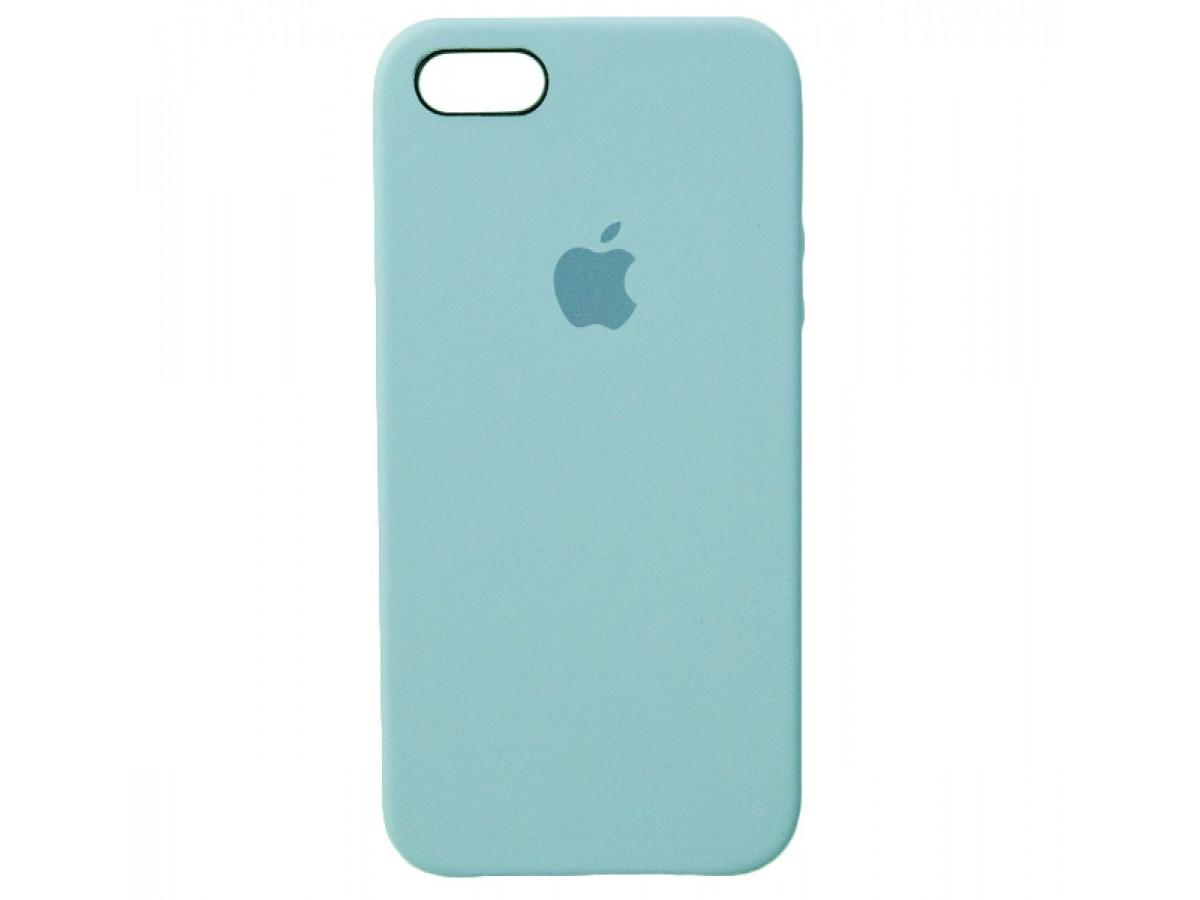 Чехол Silicone Case iPhone 5s/SE бирюзовый в Тюмени