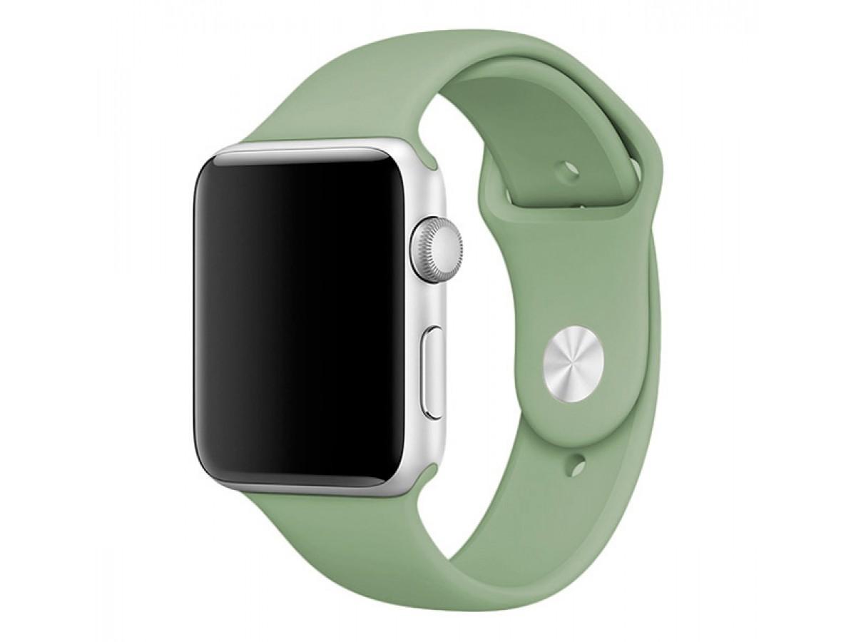 Силиконовый ремешок Apple Watch 42/44мм светло-зеленый в Тюмени