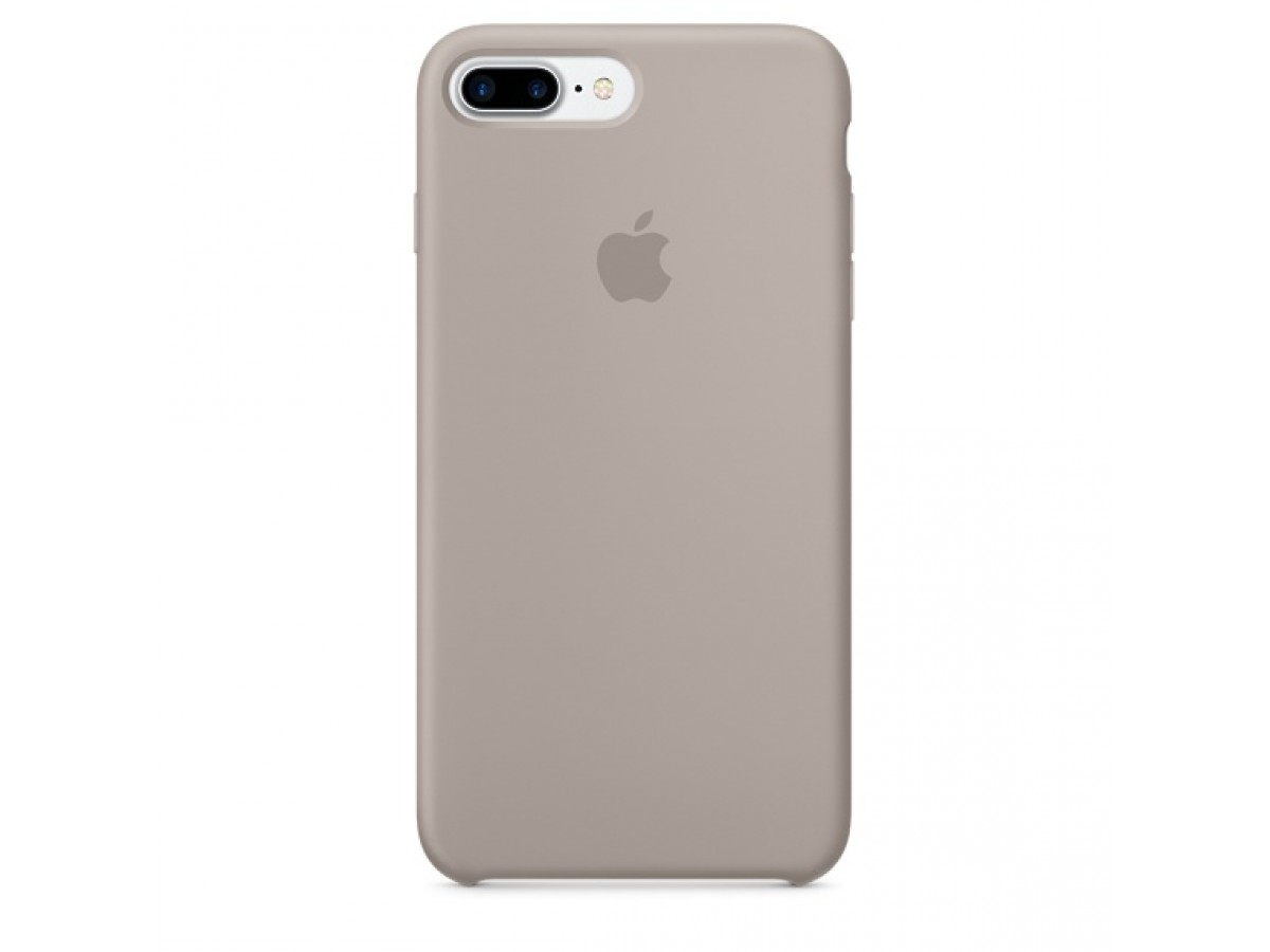 Чехол Silicone Case качество Lux для iPhone 7 Plus/8 Plus серый в Тюмени