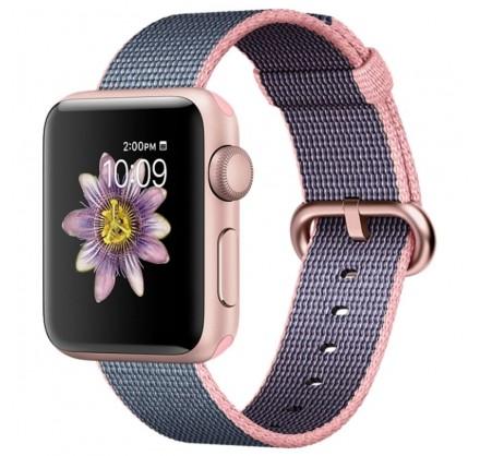 Ремешок Apple Watch 38/40мм из плетеного нейлона (розов...