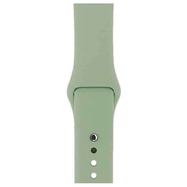 Силиконовый ремешок Apple Watch 42/44мм светло-зеленый
