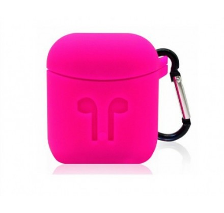 Чехол AirPods с карабином розовый
